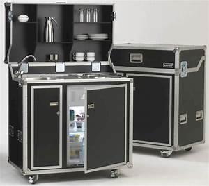Pro art kitcase kofferkuche mit kuhlschrank home ideas for Kofferküche