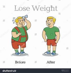 Lose Weight Man Vector Illustration Stock Vector 205356100 ...