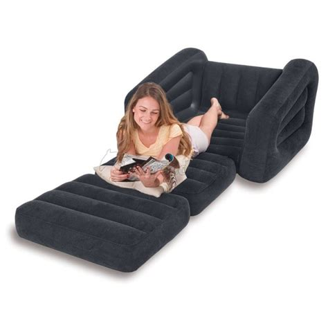 intex inflatable one seater pull out chair model number