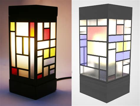 Up Lamps by The Completed Built Version Of The De Stijl Lamp Flickr