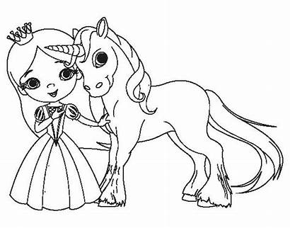 Unicorn Coloring Princess Pages Printable Getcolorings