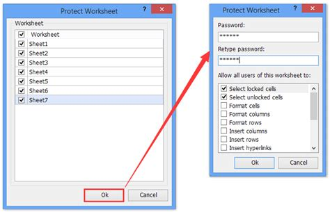 how to lock and protect selected cells in excel