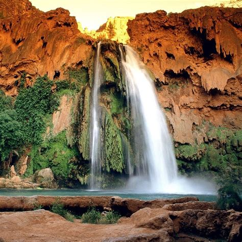Waterfalls Exotic Placeswatermountains Havasu Falls