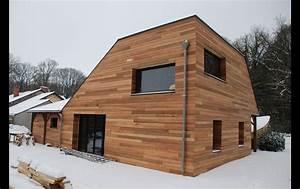 bardage bois rennes bardeur pose travaux realisation With couleur facade maison contemporaine 10 maison en bois maison ossature bois bardage douglas