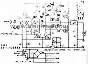 50w Mosfet Amplifier Circuit Ocl Using K1058   J162