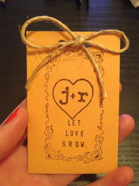 diy flower seed packet favors what else can i do weddingbee
