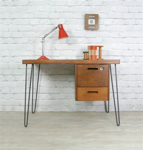 diy desk with hairpin legs hairpin leg vintage desk office pinterest vintage