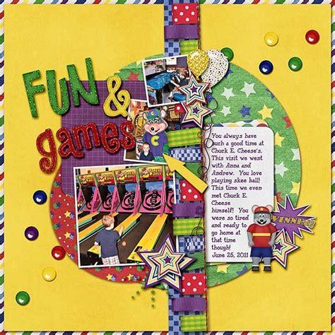 chuck  cheese scrapbook  images simple scrapbook