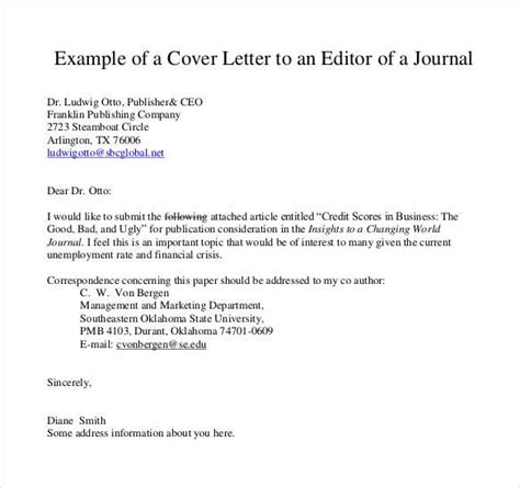Cover Letter For Publication by Cover Letter Template Journal 2 Cover Letter Template