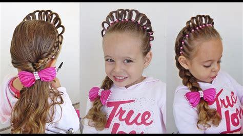 penteado infantil princesa  coroa de cabelo youtube