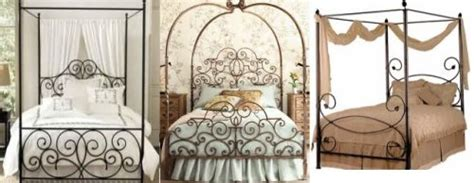 wrought iron canopy beds four poster canopy beds black