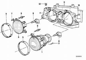 Bmw 325i Low Beam Insert Right  Headlight - 63121385802