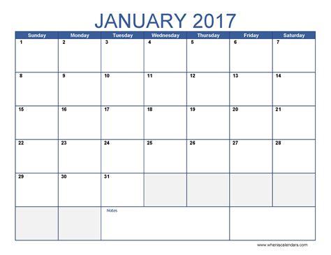 january  calendar printable   calendar