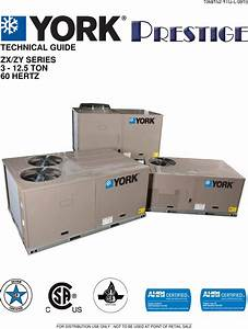 York Zx Prestige Rooftop Unit Users Manual