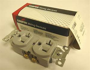 Cooper Cr5362gy Duplex Receptacle 2 Pole 3 Wire Grounding