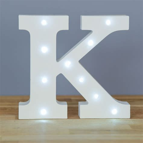 light up letter k home decor barbours