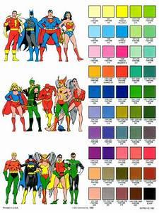 Superhero Color Guides   Superhero Color