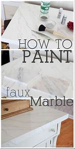 faux carrara marble painting technique fo makeover With what kind of paint to use on kitchen cabinets for make my own wall art