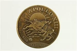 NASA SPACE APOLLO 13 XIII Mission Commemorative Brass Coin ...