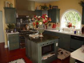 Sage Green Kitchen Cabinets   country kitchen, sage green
