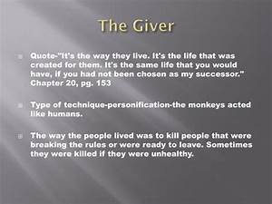 Ppt The Giver Literary Techniques Powerpoint