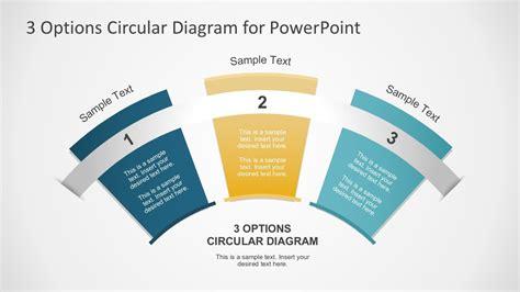 options circular fan diagram  powerpoint template