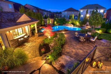 the luxurious landscape lighting ideas around pool home