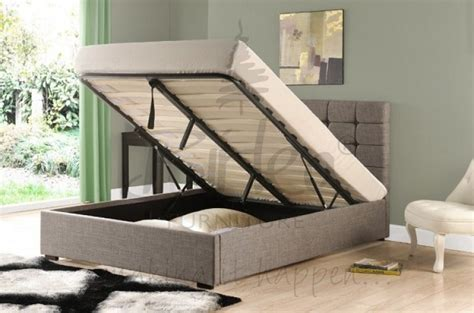 King Size Ottoman Bed by Birlea 6ft King Size Grey Upholstered
