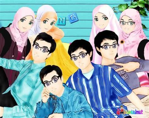 Anime Kacamata Cantik Macam Macam Kartun Kartun Gamabr Muslimah Dan Muslim