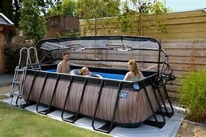Gartenpool Zum Aufstellen : rahmenpool schwimmbecken 5 4x2 5m frame pool braun ~ Watch28wear.com Haus und Dekorationen