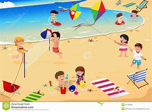 People clipart the beach - Pencil and in color people ...