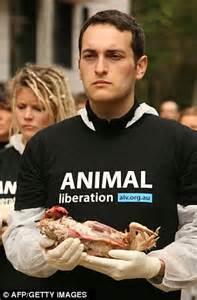 australian animal liberation members stage macabre