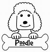 Poodle Coloring Pages Printable Silhouette Outline Skirt Designlooter Getdrawings Popular Silhouettes sketch template