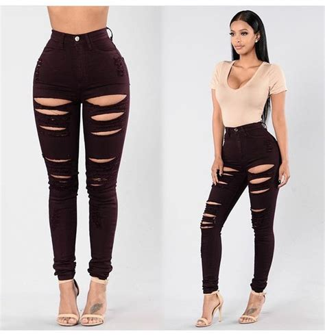 Jeans pants black high waisted pants black pants skinny pants high waisted pants ripped ...