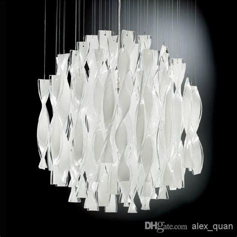 Hybrid type Stair Large Chandelier Modern Glass Pendant