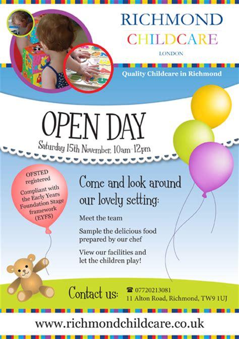 open day leaflet   nursery  emma carter bayfield