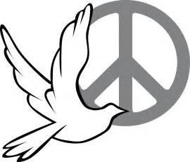 » Peace dove and sign