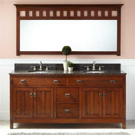 oak bathroom vanity cabinets 72 quot harington oak double vanity for undermount sinks