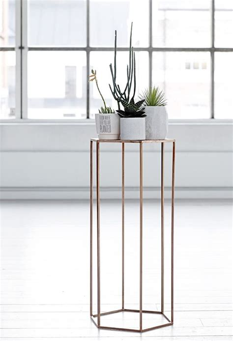copper table l ikea bloomingville copperplated pedestal 2014 autumn winter