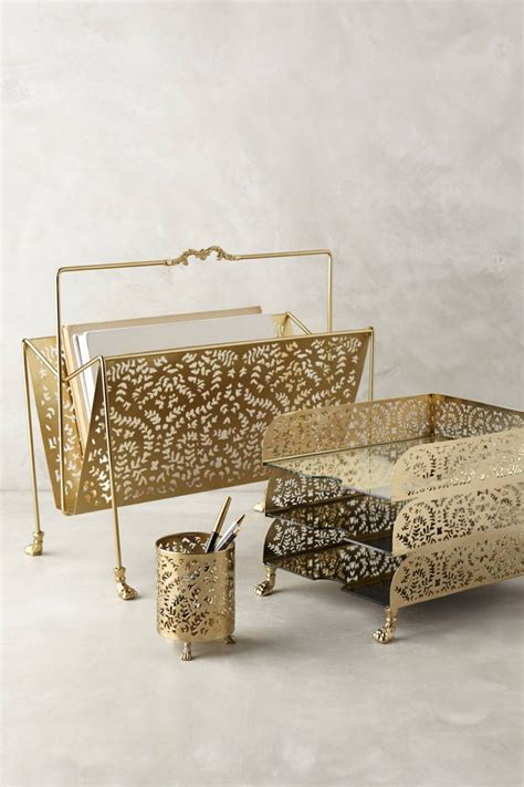 gold desk organizer set a touch of glamor at the workplace gold desk accessories