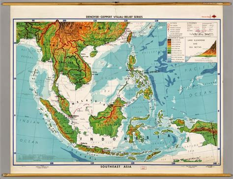 physical maps  southeast asia  printable maps