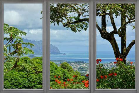 Hawaii Window View Canvas Artwork By Unknown Artist Icanvas