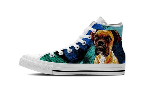 High Top Canvas Boxer Shoes