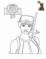 Fortnite Coloring Pages Characters Printable sketch template