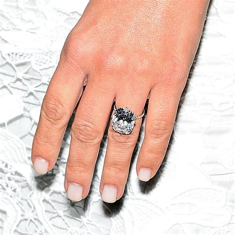 kim kardashian engagement ring and manicure popsugar beauty