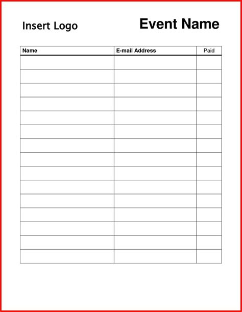 sign in sheet template docs free sign templates word apa exle