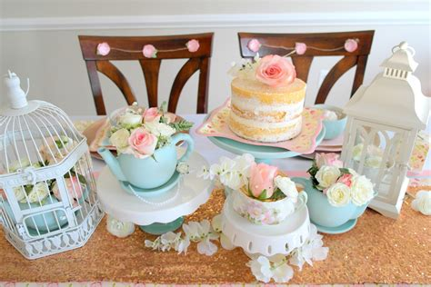 tea bridal shower decorations vintage bridal shower tea ideas