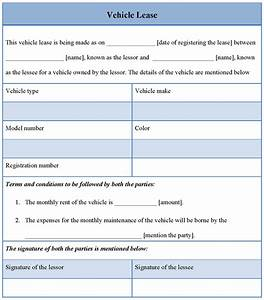 motor vehicle lease agreement template - 10 best images of car lease agreement form vehicle lease