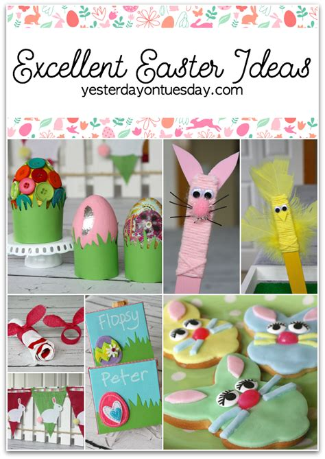 Easter Crafts Archives  Yesterday On Tuesday
