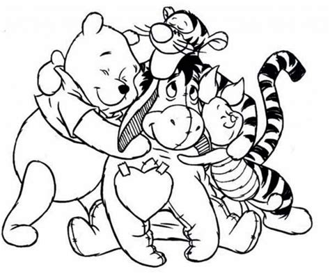 Winnie The Pooh Coloring Pages For Kids Coloring Pages